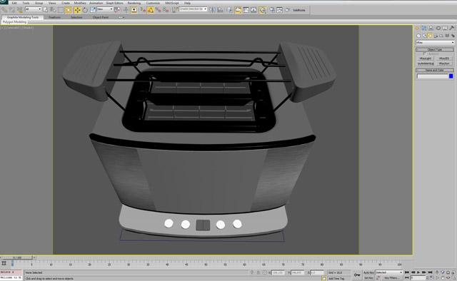 3ds Max Studio Lighting - Toaster