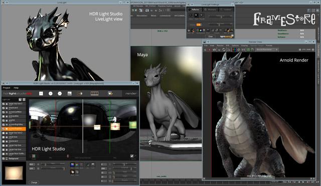 HDR Light Studio Screen Grab with Maya and Arnold
