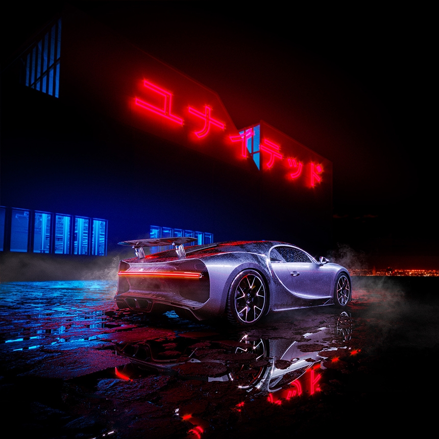 Bugatti lit with HDR Light Studio