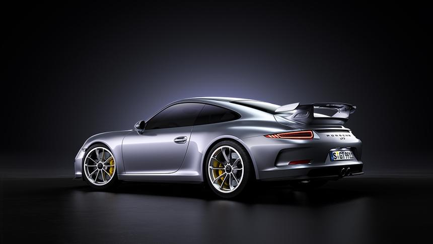 Porsche GT3 lit with HDR Light Studio