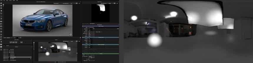 Enhancing a singe light in HDR Light Studio