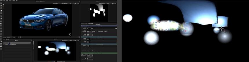 Studio lighting blended with HDRI map in HDR Light Studio