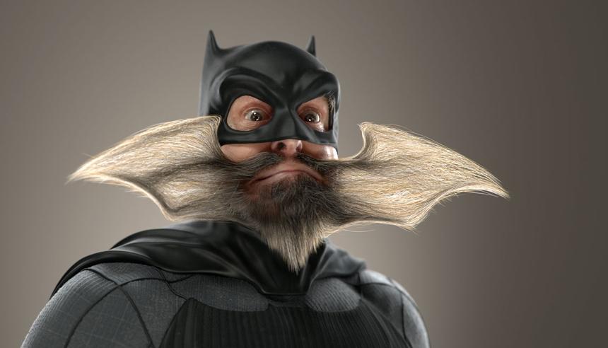 Batman image lit with HDR Light Studio