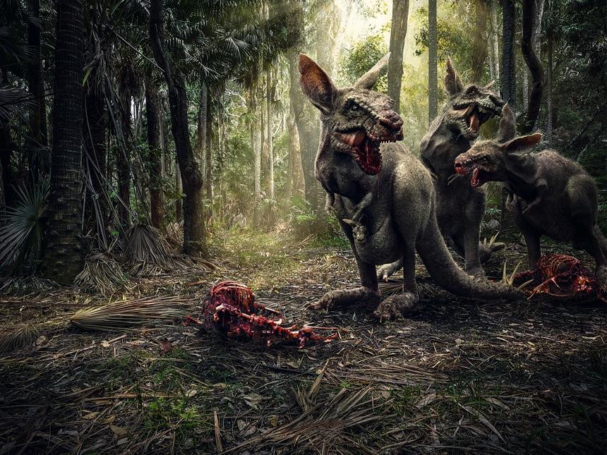 Kangasaraus Rex lit with HDR Light Studio