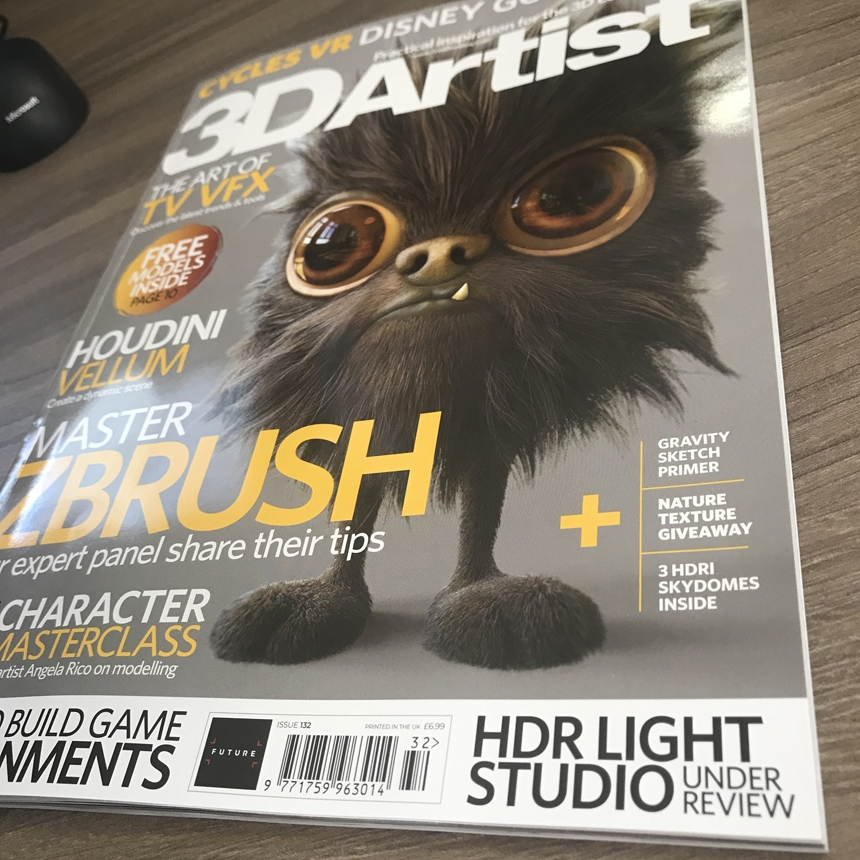 3D Artist Magazine reviews HDR Light Studio