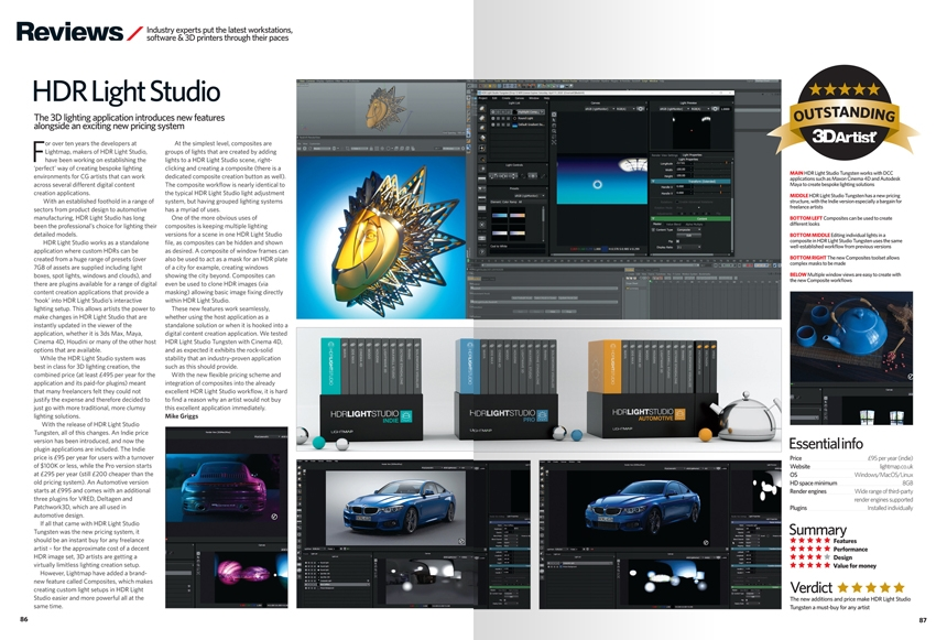 3D Artist review of HDR Light Studio