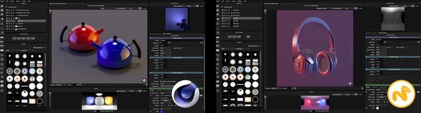 HDR Light Studio - Tungsten Drop 2 interface