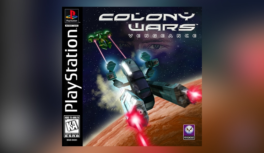 Colony Wars PlayStation game cover