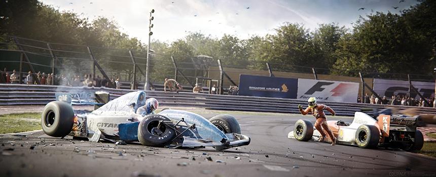 Formula 1 Crash CGI