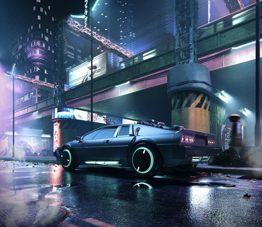 Cyberpunk Streets CGI