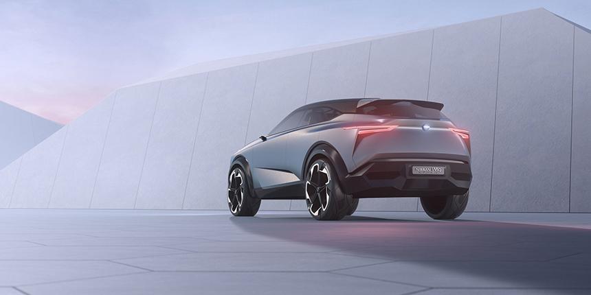 Nissan IMQ conept car CGI back