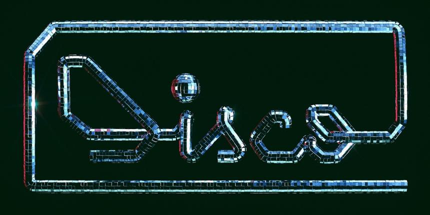 Disco Typography CGI