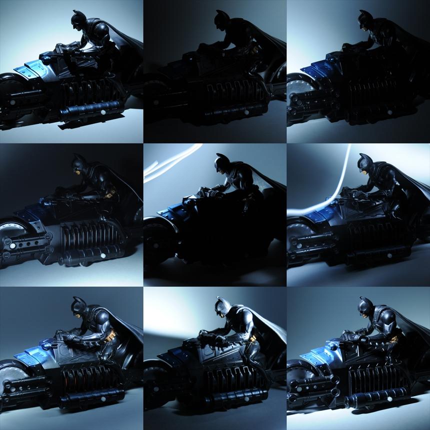 LightPainting shots of Batman Toy