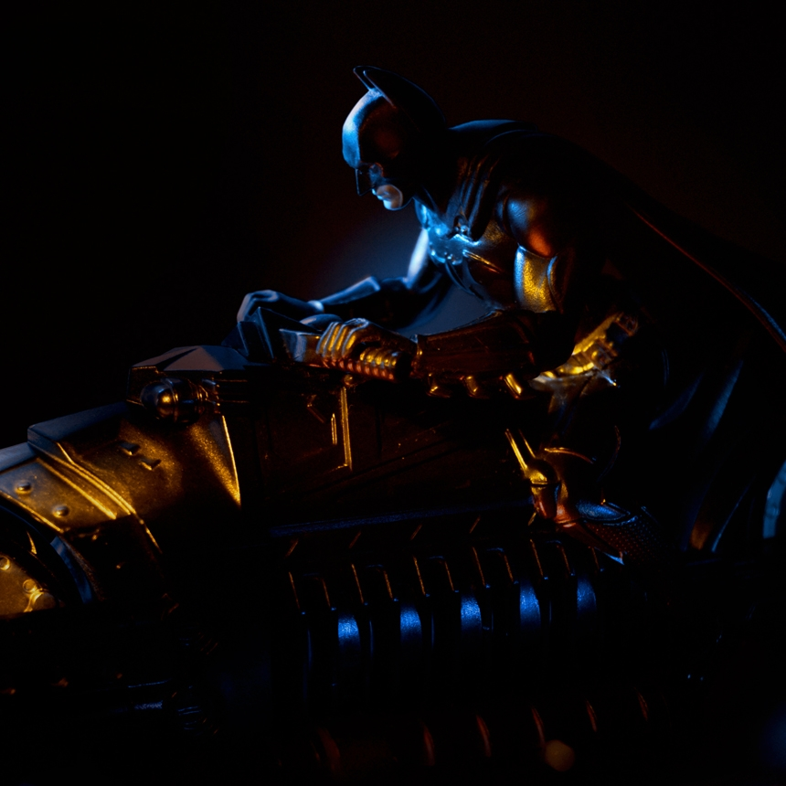 Light Painted Moody Shot of Batman