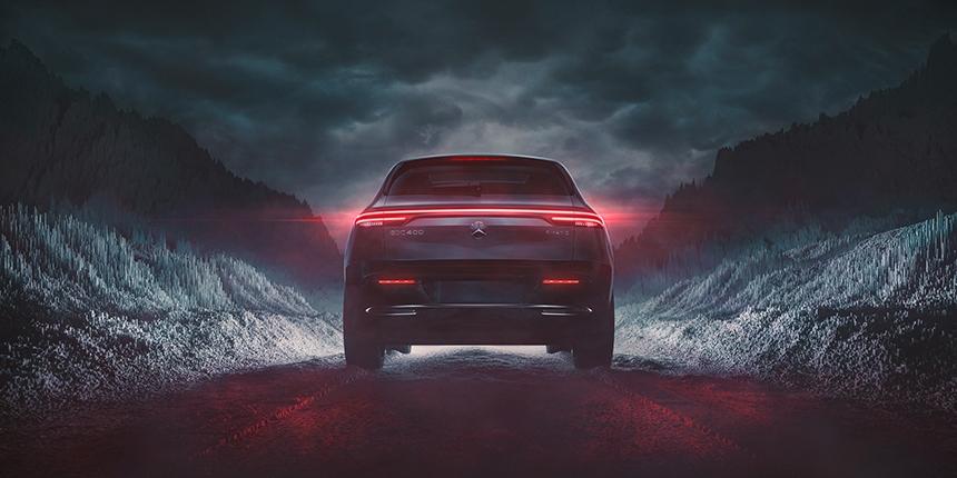 Mercedes-Benz EQC - Black Edition CGI (back view)