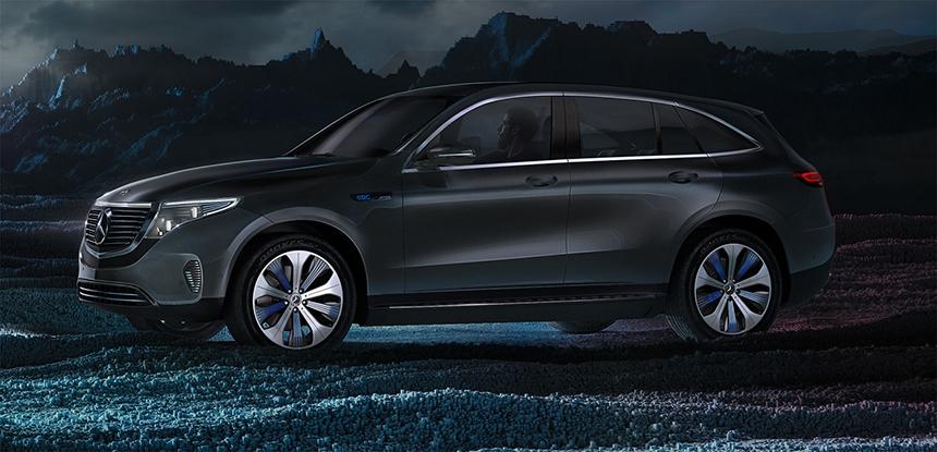 Mercedes-Benz EQC Lighting Before HDR Light Studio