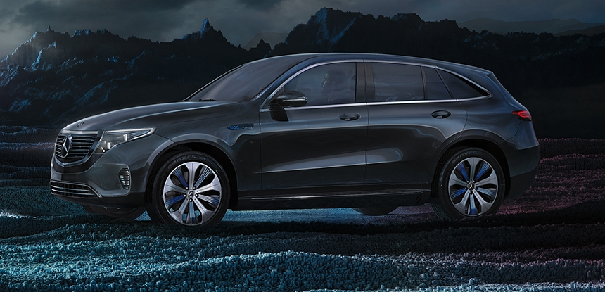 Mercedes-Benz EQC Lighting After HDR Light Studio