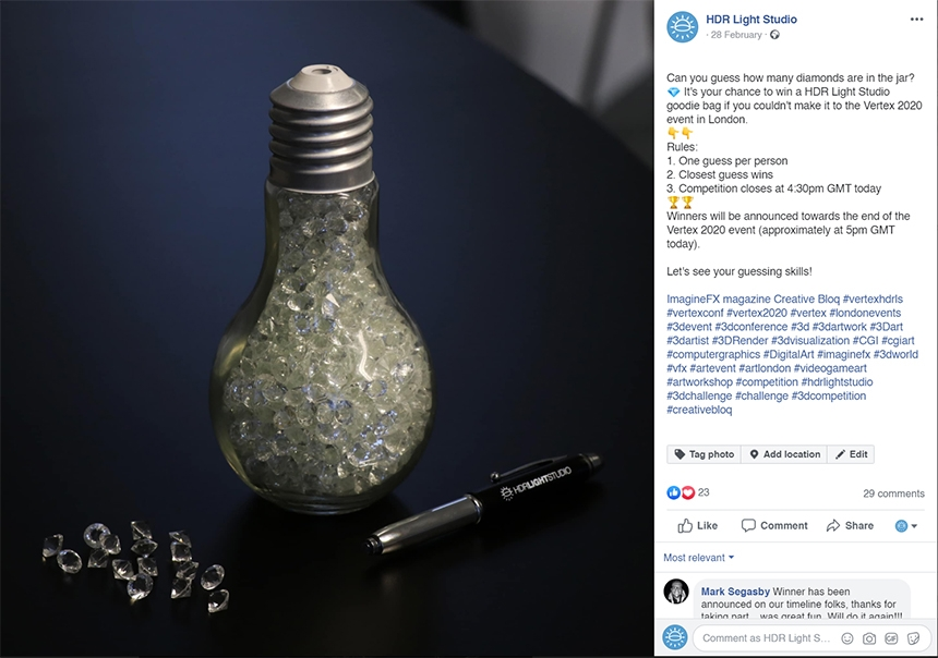 HDR Light Studio online challenge: Guess how many diamonds in a jar