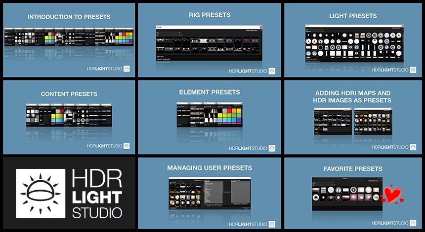 HDR Light Studio Presets Training Content