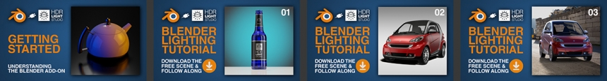 HDR Light Studio tutorials for Blender