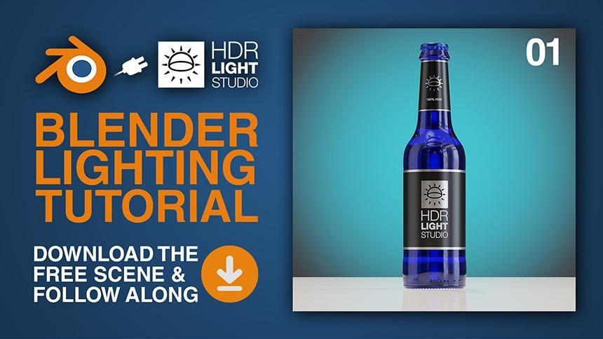 Blender Lighting Tutorial - Studio Lighting Bottle