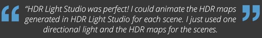HDR Light Studio for animated scenes