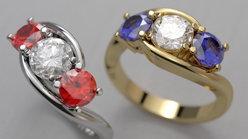 Rings - SolidWorks Visualize