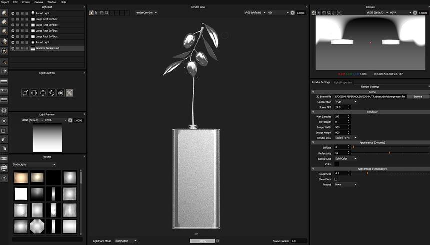 HDR Light Studio 5 interface