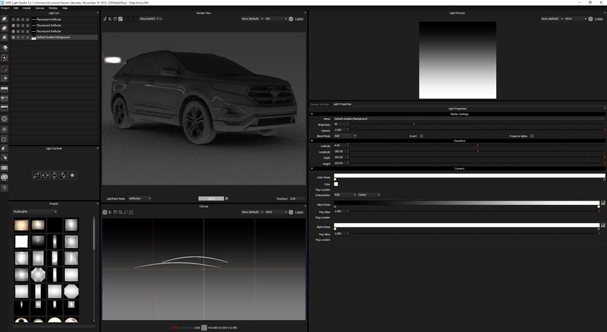Edge in HDR Light Studio