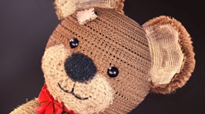 Sophie's Progress - Knitted Material and Teddy Bear