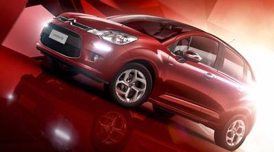 New Citroën C3 lit by HDR Light Studio