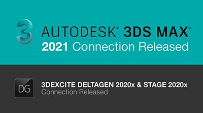 3DS MAX 2021 and DELTAGEN 2020x