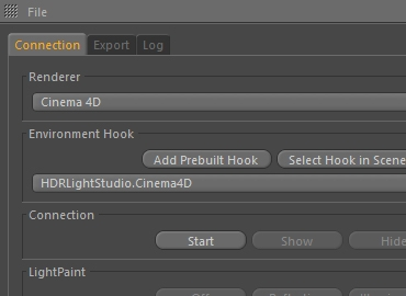 Our Cinema 4D plug-in creates a live link with HDR Light Studio