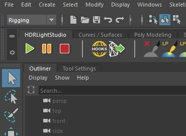 Our Maya plug-in creates a live link with HDR Light Studio