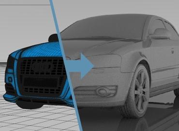 Export your scene into HDR Light Studio's live Render View