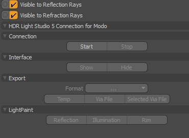 Our MODO plug-in creates a live link with HDR Light Studio