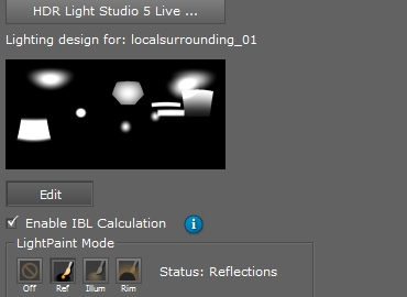 Our DeltaGen plug-in creates a live link with HDR Light Studio