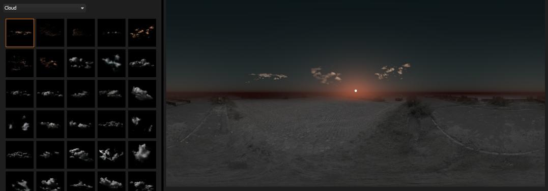 hdri light studio procedural sky