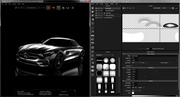 SolidWorks Visualize with HDR Light Studio