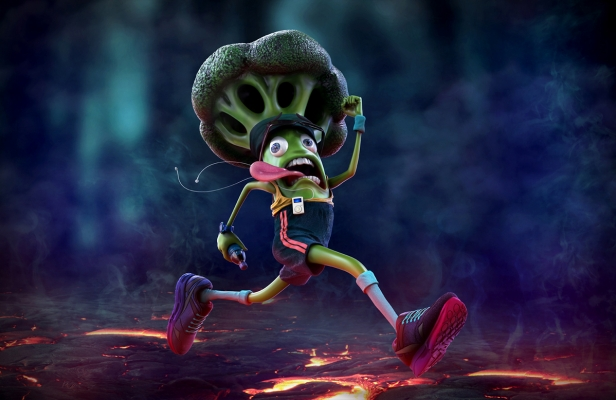 Run Broccoli - Character Design by Lowpoly Studio