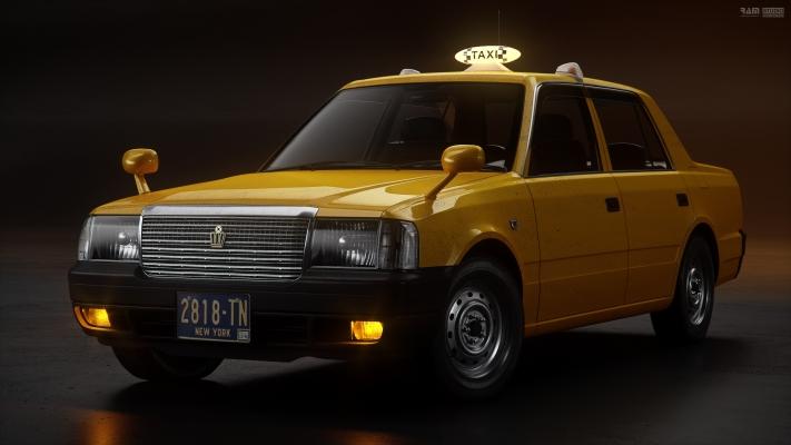 Toyota Crown Taxi by www.ram-studio.hr