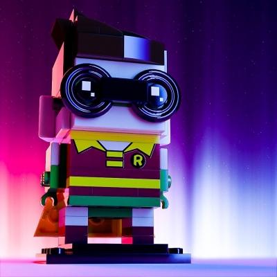 Lego Brickheadz Robin by Craig Dockerill