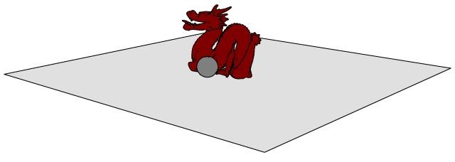 Dragon, ball and floor