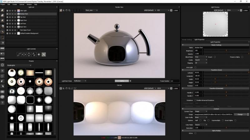 HDR Light Studio screen capture