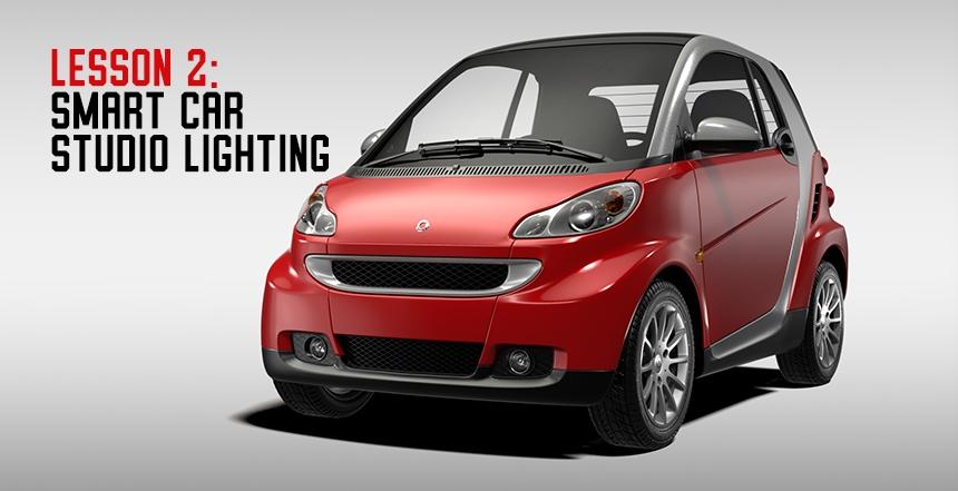 Studio Lighting a Smart Car with HDR Light Studio