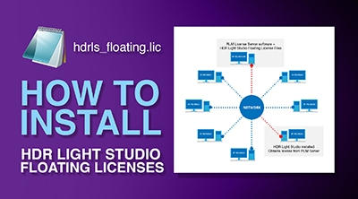 How to Install HDR Light Studio Floating Licenses