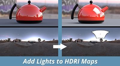Add Lights to HDRI Maps