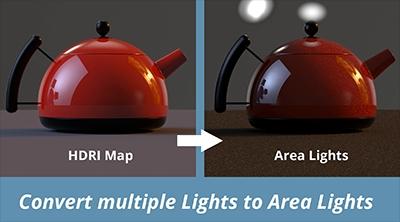Toggle multiple lights to Area Lights