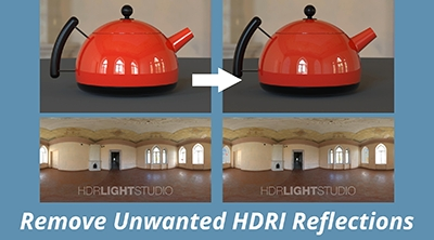 Remove Unwanted Reflections from HDRI Maps