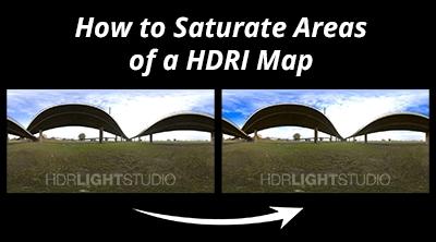 Local Saturation Adjustments to HDRI Maps